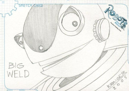Robots Movie Artist Michael Kraiger Autograph Sketch Card SK.11 #294/355   - TvMovieCards.com