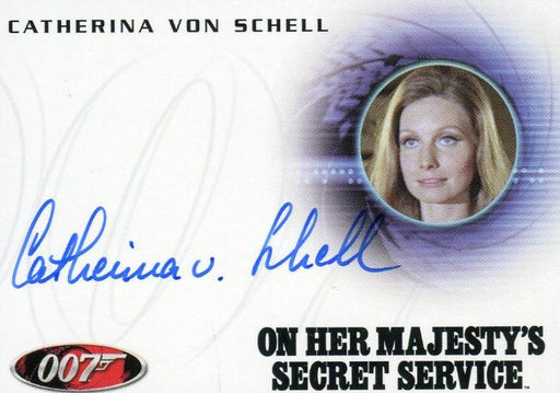 James Bond Mission Logs Catherina Von Schell as Nancy Autograph Card A179   - TvMovieCards.com