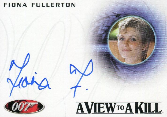 James Bond Mission Logs Fiona Fullerton as Pola Ivanova Autograph Card A185 Front