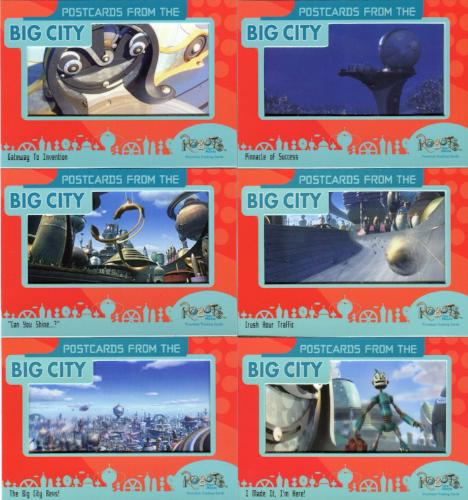 Robots Movie Postcards from the Big City Film Chase Card Set 6 Cards   - TvMovieCards.com