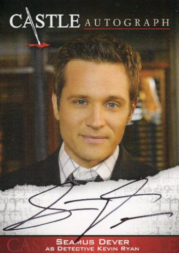 Castle Seasons 3 & 4 Seamus Dever Autograph Card A04   - TvMovieCards.com