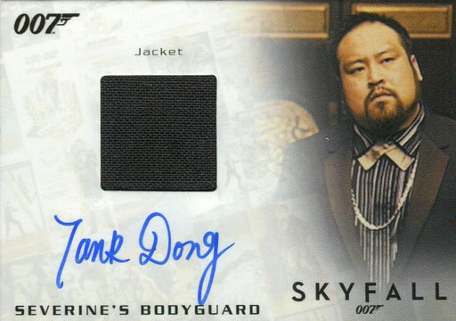 James Bond Archives Final Edition 2017 Tank Dong Autograph Costume Card   - TvMovieCards.com