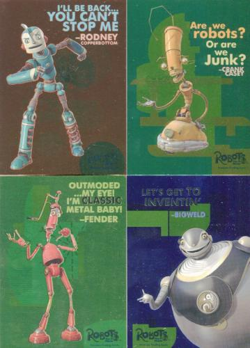 Robots Movie Foil Chase Card Set 4 Cards   - TvMovieCards.com