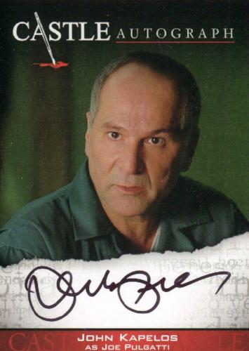 Castle Seasons 3 & 4 John Kapelos Autograph Card A13   - TvMovieCards.com