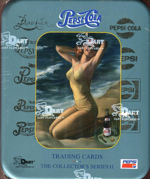 Pepsi Cola Series Two Tin Card Box   - TvMovieCards.com