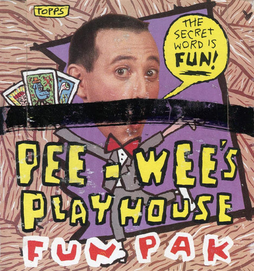 Pee Wee Herman Pee Wee's Playhouse Fun Paks Card Box   - TvMovieCards.com