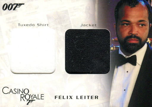 James Bond in Motion 2008 Felix Leiter Double Costume Card DC04 #0768/1200   - TvMovieCards.com