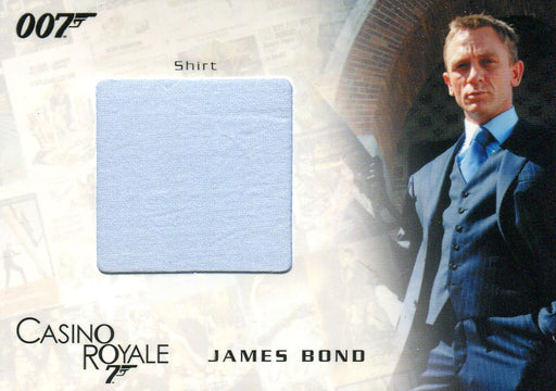 James Bond in Motion 2008 James Bond's Dress Shirt Costume Card SC01 #606/777   - TvMovieCards.com