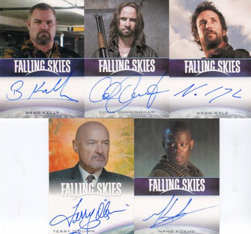 Men of Falling Skies Season 2 Premium Pack Autograph Card Lot 5 Cards   - TvMovieCards.com