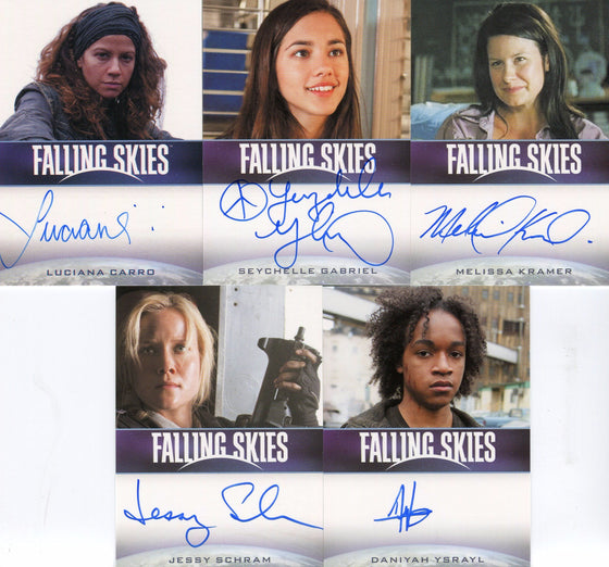 Men of Falling Skies Season 2 Premium Pack Autograph Card Lot 5 Cards Front