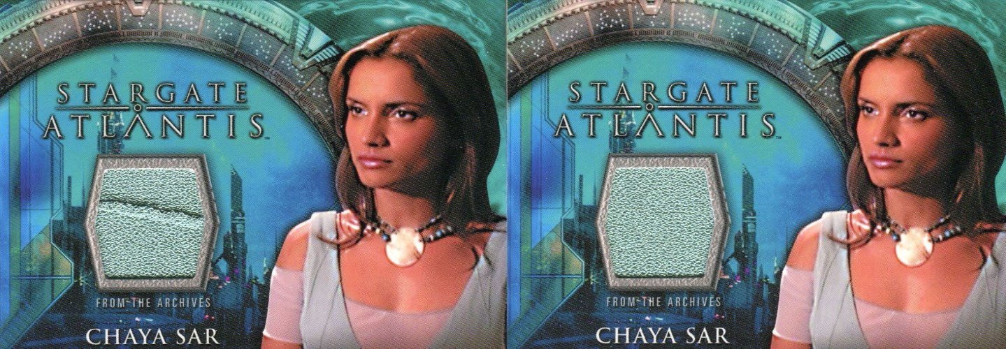 Stargate Atlantis Season One Chaya Sar Costume Card Variants   - TvMovieCards.com