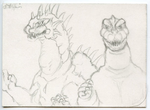 GODZILLA: KING OF THE MONSTERS Sketch Card by Matt Harris 2 images Godzilla   - TvMovieCards.com
