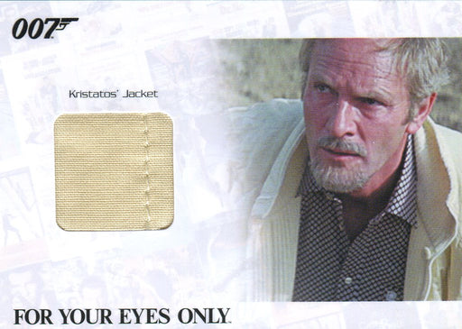 James Bond Archives 2014 Edition Aristotle's Jacket Relic Card JBR42 #109/375   - TvMovieCards.com