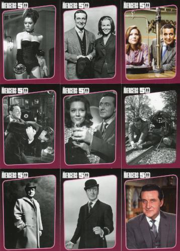 Avengers TV 50th Anniversary Chase Card Set 9 Cards   - TvMovieCards.com