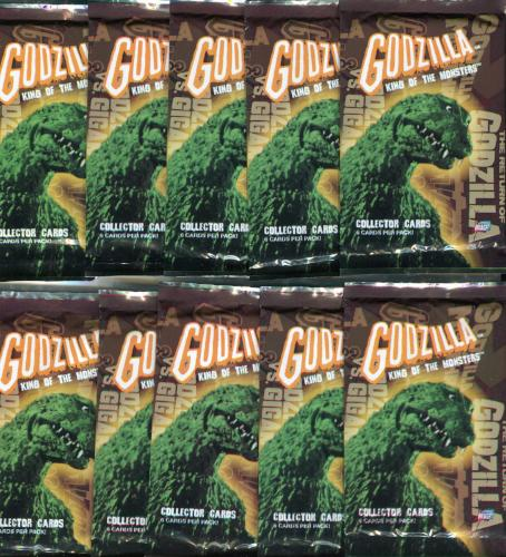 GODZILLA: KING OF THE MONSTERS Card Pack Lot 10 Packs Comic Images   - TvMovieCards.com