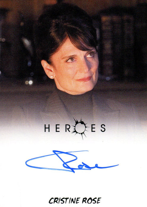 Heroes Archives Christine Rose as Angela Petrelli Autograph Card   - TvMovieCards.com