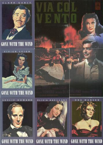Classic Vintage Movie Posters 1 Gone with the Wind Chase Card Set Breygent Front