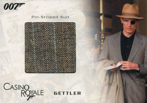 James Bond in Motion 2008 Gettler's Suit Costume Card SC04 #335/800   - TvMovieCards.com