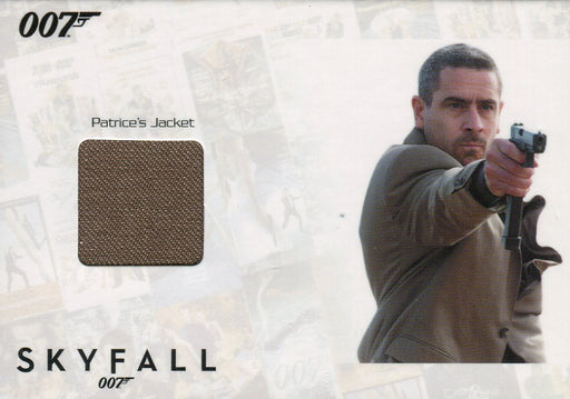 James Bond Autographs & Relics Patrice Relic Costume Card SSC5 #037/200   - TvMovieCards.com