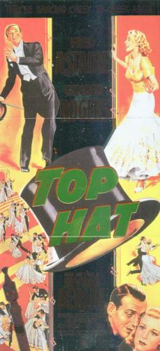 Classic Vintage Movie Posters 1 Top Hat Mini Puzzle Chase Card Set Breygent   - TvMovieCards.com