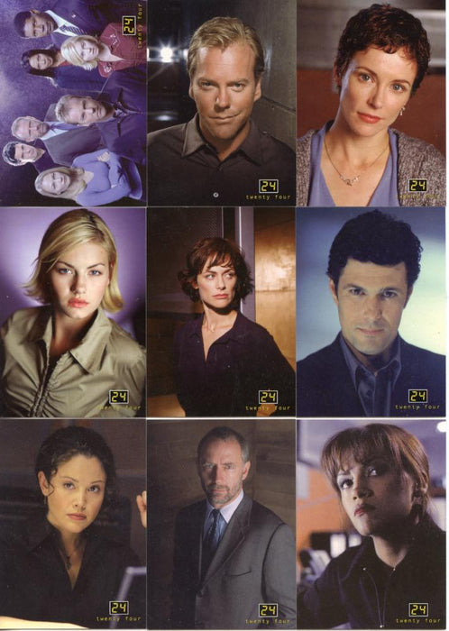 24 Twenty Four Seasons 1 and 2 Trading Base Card Set 90 Cards   - TvMovieCards.com