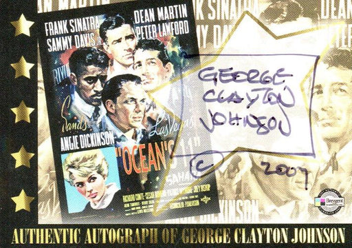Classic Vintage Movie Posters 1 George Clayton Johnson Autograph Card Breygent   - TvMovieCards.com