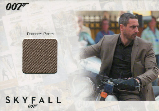 James Bond Autographs & Relics Patrice Relic Costume Card SSC7 #063/200   - TvMovieCards.com