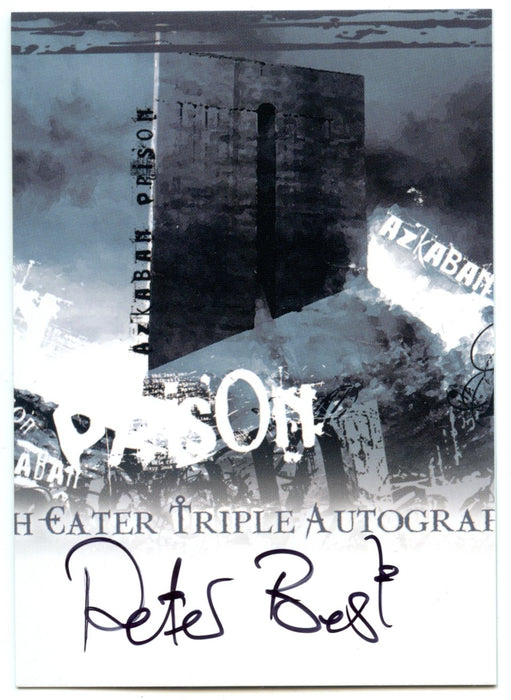 Harry Potter Order of the Phoenix  Peter Best Autograph Card SDCC DEPZ-02   - TvMovieCards.com