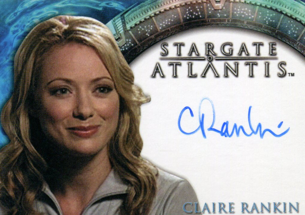 Stargate Atlantis Season Two Claire Rankin as Dr. Kate Heightmeyer Autograph Car   - TvMovieCards.com