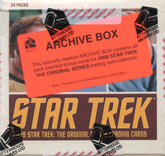 Star Trek The Original Series 2009 TOS Archive Card Box