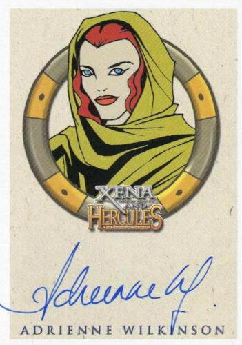 Xena & Hercules Animated Adventures Adrienne Wilkinson as Eve Autograph Card   - TvMovieCards.com