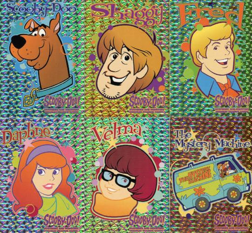 Scooby Doo Mysteries & Monsters Sparkly Chase Card Set SP1 thru SP6   - TvMovieCards.com