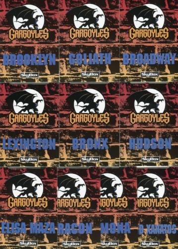 Gargoyles Series 1 Pop-Ups Chase Card Set 10 Cards P1 thru P10 Skybox 1995   - TvMovieCards.com