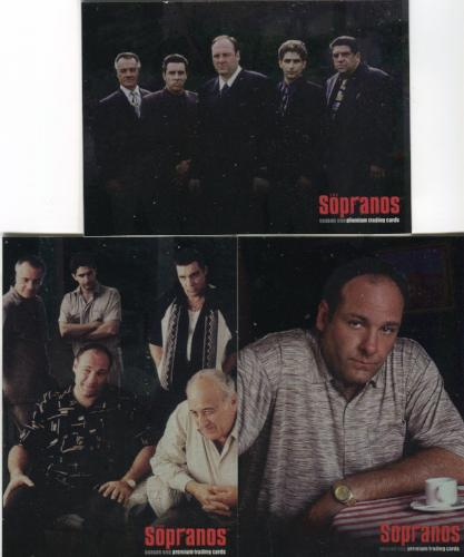 Sopranos Season One Foil Promo Card Lot 3 Cards   - TvMovieCards.com