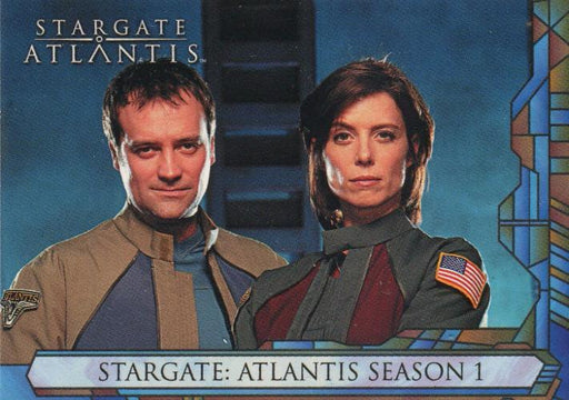 Stargate Atlantis Season One Promo Card UK   - TvMovieCards.com