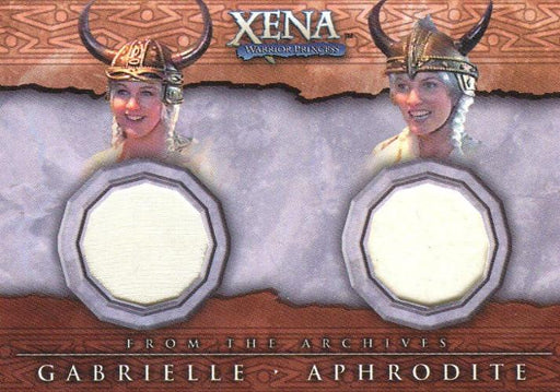 Xena Beauty and Brawn Gabrielle and Aphrodite Double Costume Card DC6   - TvMovieCards.com