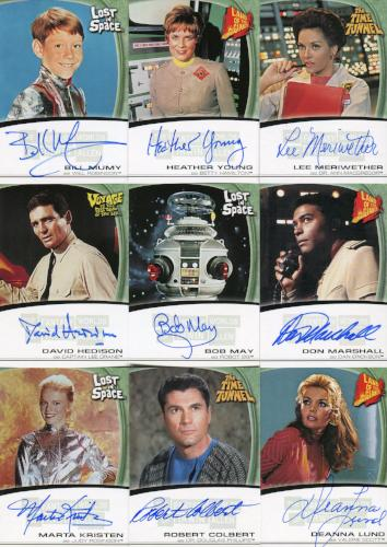 Fantasy Worlds of Irwin Allen Autograph Card Set 16 Cards Front1