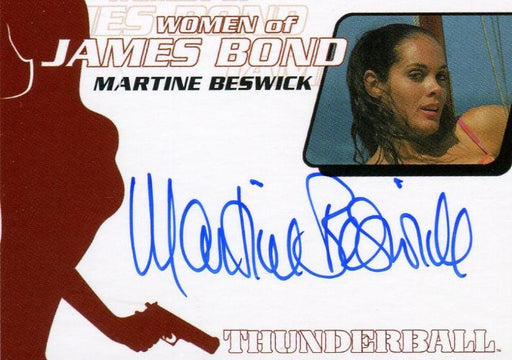 James Bond The Quotable James Bond Martine Beswick Autograph Card WA23   - TvMovieCards.com