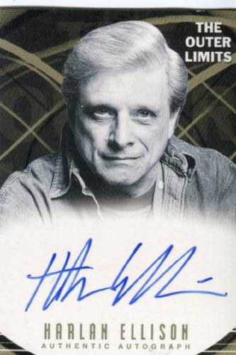 Outer Limits Premiere Autograph Card A18 Harlan Ellison, Writer   - TvMovieCards.com