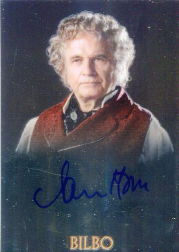 Lord of the Rings Trilogy Chrome Ian Holm as Bilbo Autograph Card   - TvMovieCards.com