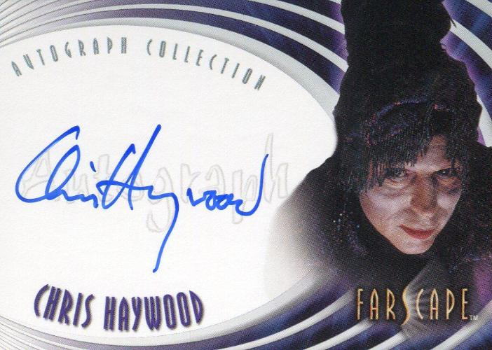 Farscape Through the Wormhole Chris Haywood Autograph Card A63   - TvMovieCards.com