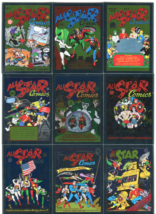DC Comics Justice League Foil All Star Comics Parallel Chase Card Set C1-9   - TvMovieCards.com