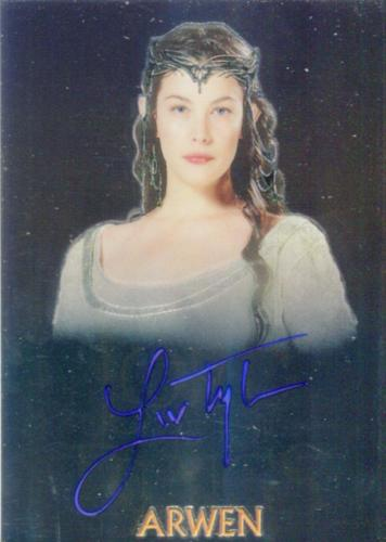 Lord of the Rings Trilogy Chrome Liv Tyler as Arwen Autograph Card   - TvMovieCards.com