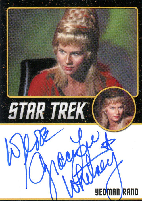 Star Trek TOS Portfolio Prints Grace Lee Whitney Autograph Card   - TvMovieCards.com