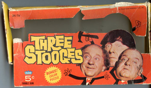 The Three Stooges 1966 Empty Vintage Card Box Damaged   - TvMovieCards.com
