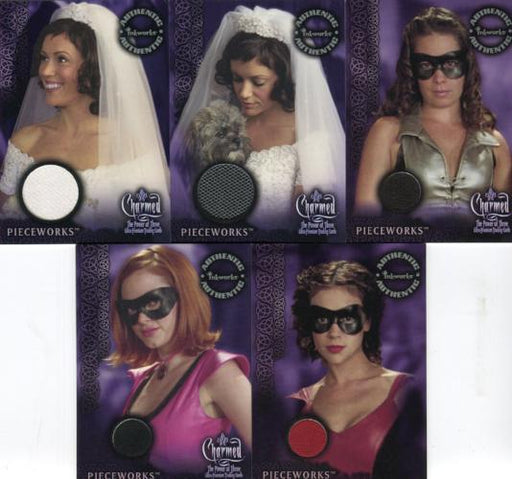 Charmed The Power of Three Pieceworks Costume Card Set PW-1 thru PW-5   - TvMovieCards.com