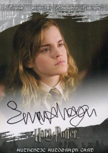 The World of Harry Potter 3D 2 Emma Watson Autograph Card Front