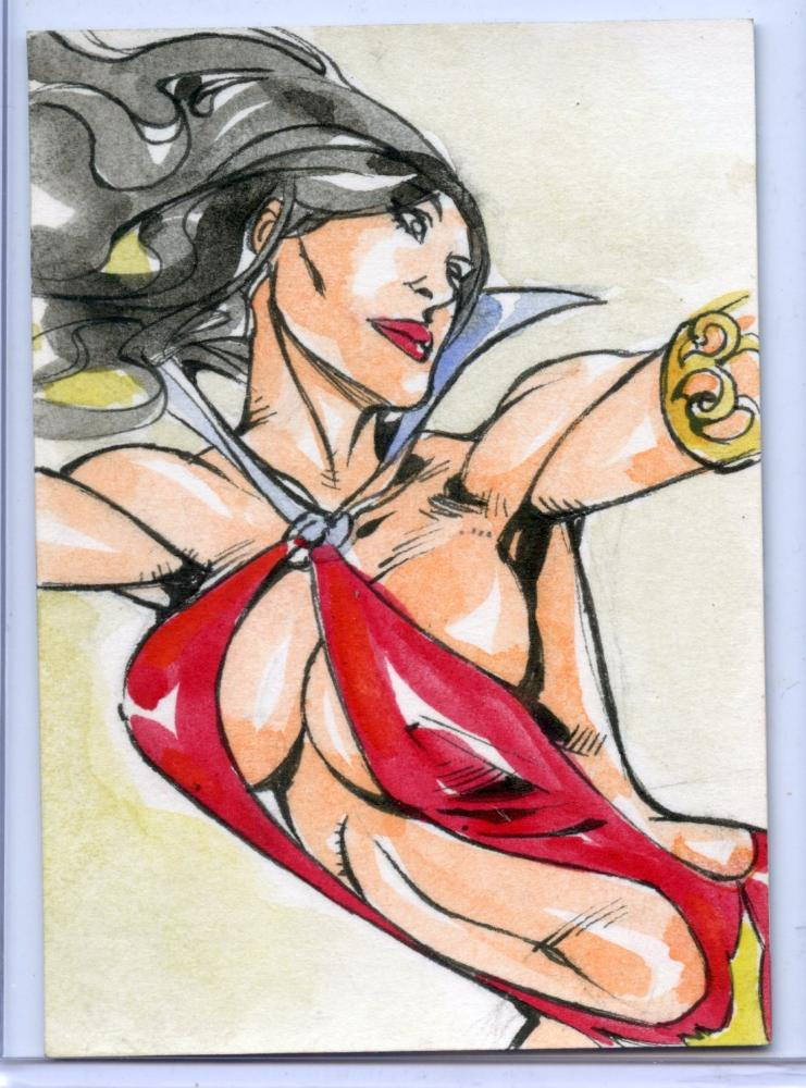 Vampirella New Series Sketch Card by Jez Rojales.