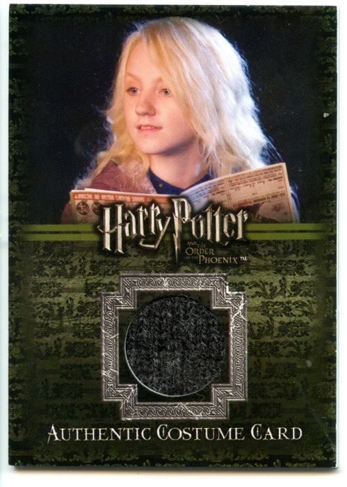 Harry Potter Order of Phoenix Luna's Shirt Costume Card HP C8 #238/320   - TvMovieCards.com