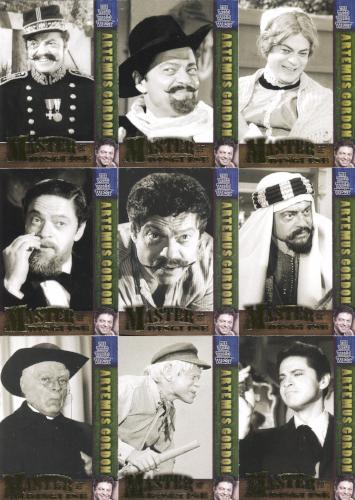 Wild Wild West Season 1 Master of Disguise Chase Card Set 9 Cards M1 - M9   - TvMovieCards.com
